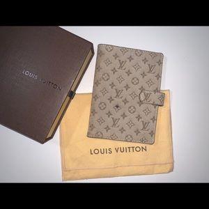 Authentic Louis Vuitton mini lin agenda passport